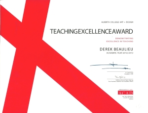 teaching excellence award